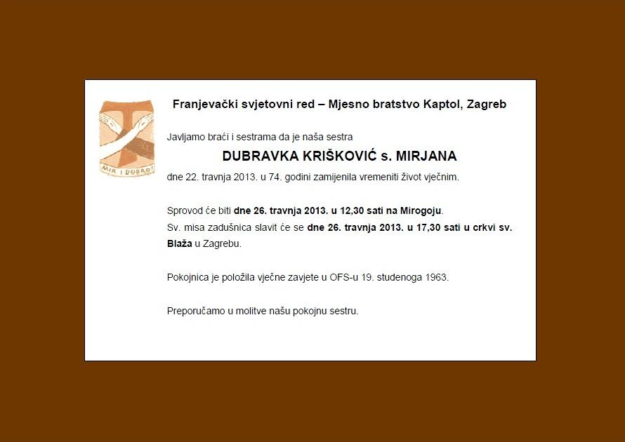 osmrtnica-Dubravka-Kriskovic