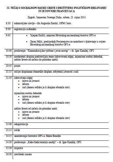 Tecaj2013-Program