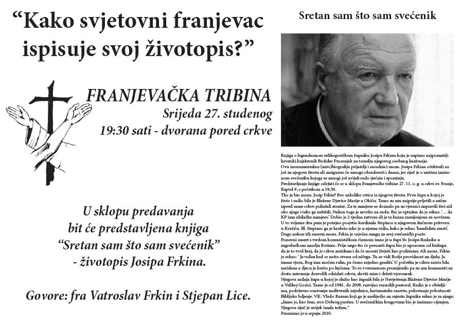 Franjevačka tribina -studeni 2013.