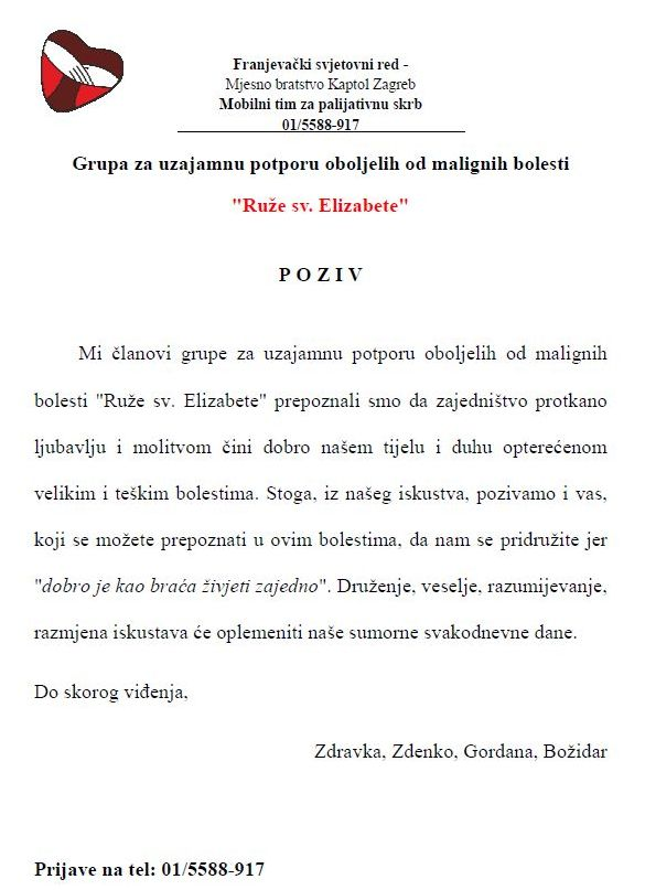 GrupaRuzeSvElizabete-Poziv